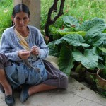 Bolivian woman knitter