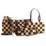 Checked Leather Handbag Collection