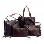 Dark Brown Leather Handbag Collection