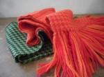 houndstooth alpaca scarf