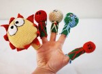 Knit Planets Finger Puppets