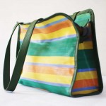 Recyclable plastic shoulder bag