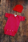 Red Knit Baby Jumper