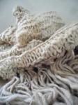 rustic hand knit shawl
