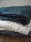 hand crochet alpaca scarves