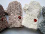 kids knit alpaca mittens