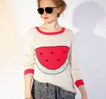 pima cotton watermellon sweater